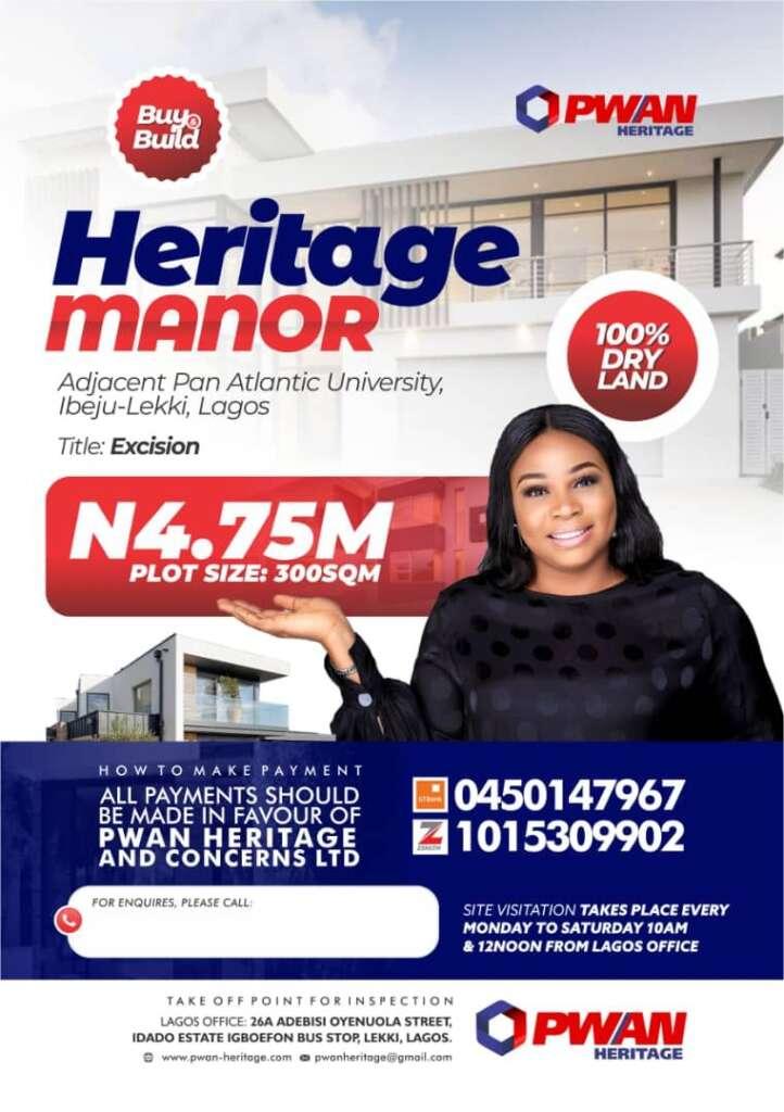 Heritage Manor Ibeju-Lekki